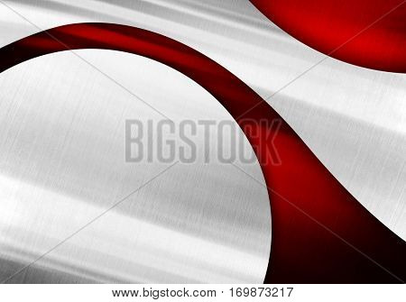abstract red metal with curve background