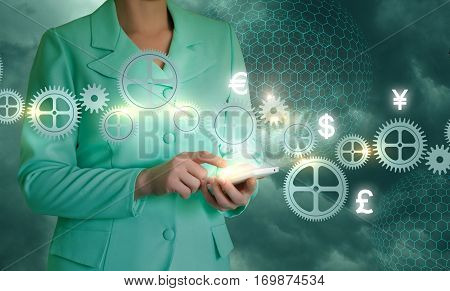 Work In The Business Using Modern Mobile Devices.