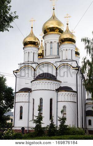 Orthodox Christian St Nicolas monastery in Pereslavl-Zalessky, Russia