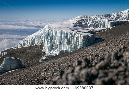 Glaciers On Mount Kilimanjaro, Tanzania
