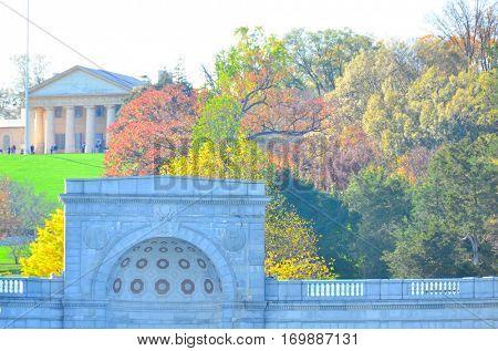 Arlington House in Arlington National Cemetery - Washington DC United States
