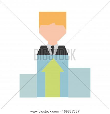 businessman work related icon image, vector illustration