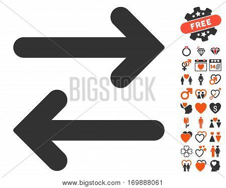 Flip Horizontal icon with bonus decorative images. Vector illustration style is flat iconic symbols for web design app user interfaces.