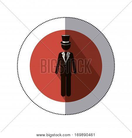 symbol bridegroom suit icon image, vector illustration