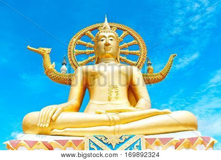 Statue of Buddha in Thailand island Koh Samui