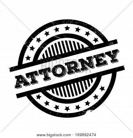 Attorney rubber stamp. Grunge design with dust scratches. Effects can be easily removed for a clean, crisp look. Color is easily changed.