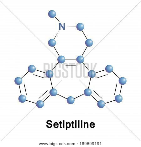 Setiptiline, also known as teciptiline, is a tetracyclic antidepressant TeCA which acts as a noradrenergic and specific serotonergic antidepressant NaSSA