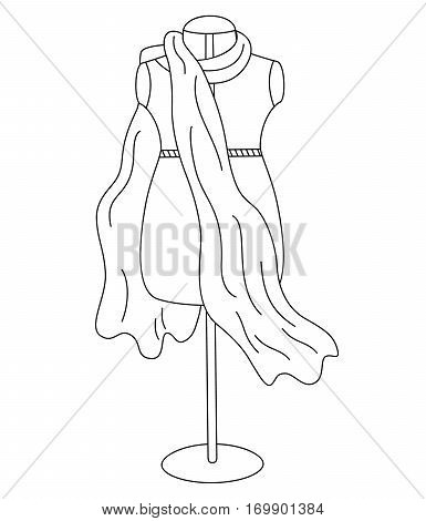 Vector black and white dummy, mannequin - sketch