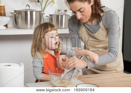 Family Cooking And Child Complaining