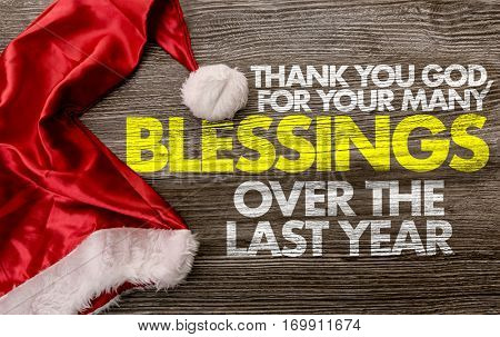 Thank You God, for Your Many Blessings Over the Last Year