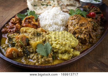 Indian Dishes on Plate