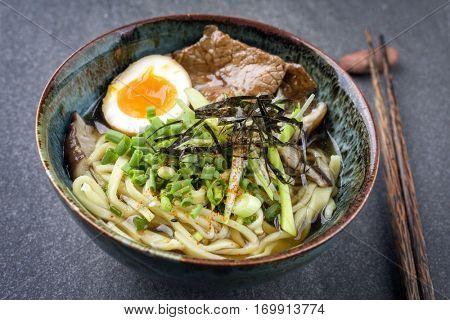Ramen Wagyu Soup in Bowl