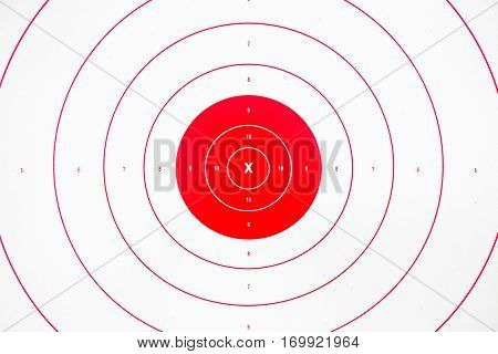 clean and colorful red paper bullseye target