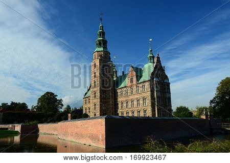 A view of a historic castle in the city of Copenhagen