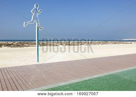 Running line on the Umm Suqeim public beach in Dubai. United Arab Emirates Middle East