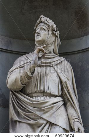Statue Of Francesco Petrarka In Florence