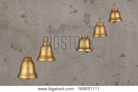 Decorative Bell Handmade Ceramics, Sonorous And Melodious.