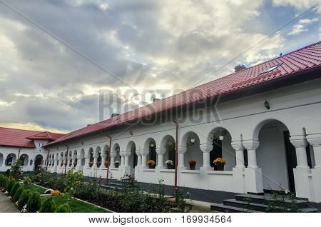 Ploiesti, Romania - October 17, 2014: The Monastery Ghighiu Build In 16 Century With Miracle Icon An