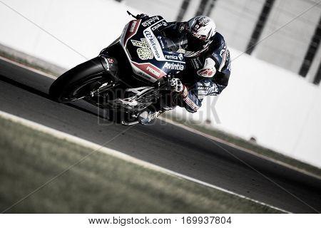 VALENCIA, SPAIN - NOV 13: Loris Baz during Motogp Grand Prix of the Comunidad Valencia on November 13, 2016 in Valencia, Spain.