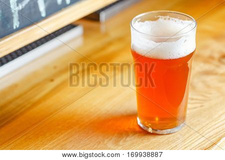 Pale Ale On A Bar Counter