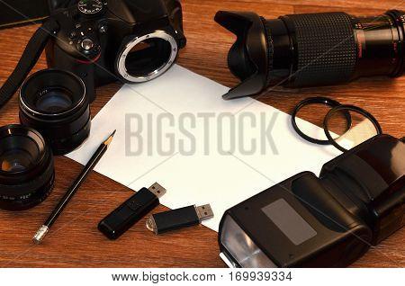 Still Life With Digital Photocamera Kit