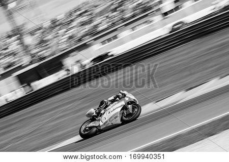 VALENCIA, SPAIN - NOV 13: Remy Gardner in Moto2 Race during Motogp Grand Prix of the Comunidad Valencia on November 13, 2016 in Valencia, Spain.
