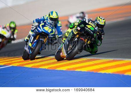 VALENCIA, SPAIN - NOV 13: 44 Pol Espargaro during Motogp Grand Prix of the Comunidad Valencia on November 13, 2016 in Valencia, Spain.