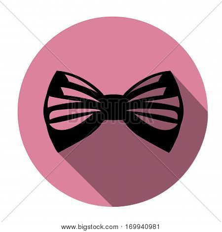Isolated bowtie on a colored tag, Vector illustration