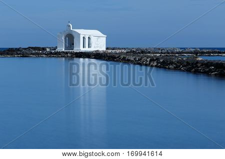 Church Agios Nikolaos  at Georgioupoli Village Crete Greece