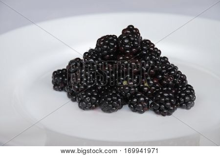 beautiful fragrant blackberry fortifying useful vegetarian food on a light background