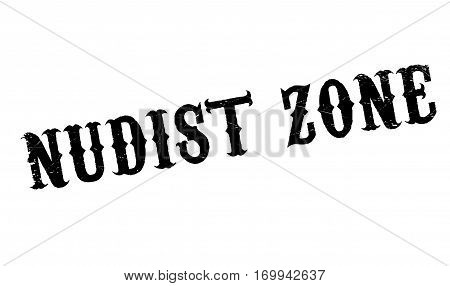 Nudist Zone rubber stamp. Grunge design with dust scratches. Effects can be easily removed for a clean, crisp look. Color is easily changed.