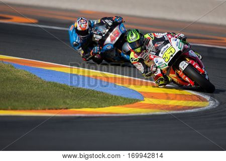 VALENCIA, SPAIN - NOV 12: 35 Cal Crutchlow during Motogp Grand Prix of the Comunidad Valencia on November 12, 2016 in Valencia, Spain.