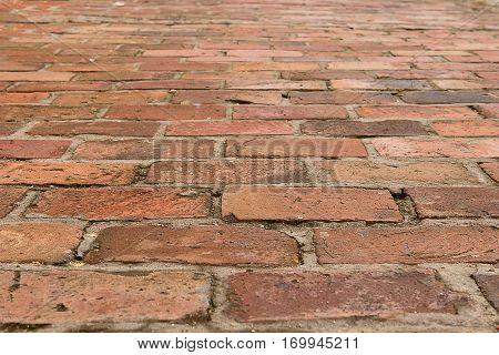 Brick footpath background. Brick footpath background. Brick footpath