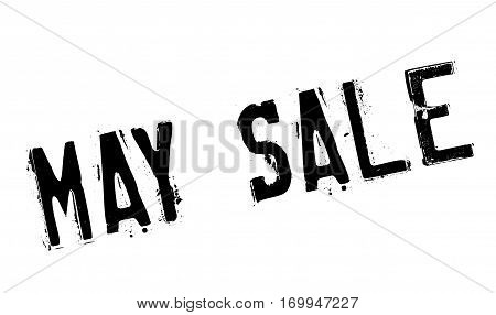 May Sale rubber stamp. Grunge design with dust scratches. Effects can be easily removed for a clean, crisp look. Color is easily changed.