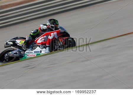 VALENCIA, SPAIN - NOV 12: Cal Crutchlow during Motogp Grand Prix of the Comunidad Valencia on November 12, 2016 in Valencia, Spain.