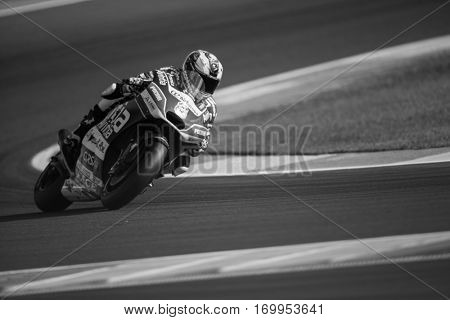 VALENCIA, SPAIN - NOV 12: Hector Barbera during Motogp Grand Prix of the Comunidad Valencia on November 12, 2016 in Valencia, Spain.