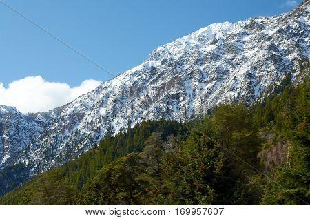 Snowy Mountain In Bariloche
