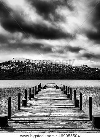 Dock Of A Lake In Bariloche