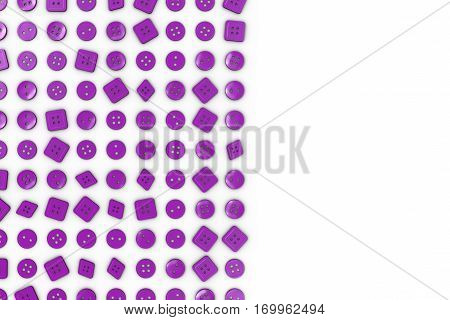Colorful Background Made From Sewing Buttons