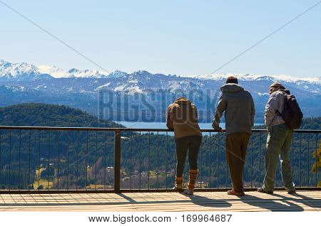 Friends Admiring The Landscape
