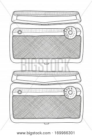 vintage radios portable AM tube art illustration