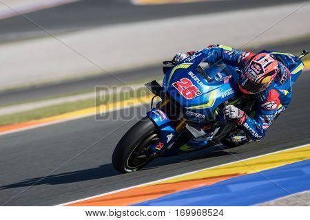 VALENCIA, SPAIN - NOV 11: Maverick Vinales during Motogp Grand Prix of the Comunidad Valencia on November 11, 2016 in Valencia, Spain.