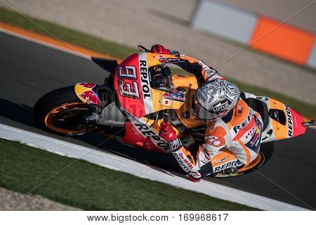 VALENCIA, SPAIN - NOV 11: Marc Marquez during Motogp Grand Prix of the Comunidad Valencia on November 11, 2016 in Valencia, Spain.
