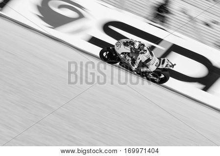 VALENCIA, SPAIN - NOV 11: Fabio Quartaro during Motogp Grand Prix of the Comunidad Valencia on November 11, 2016 in Valencia, Spain.