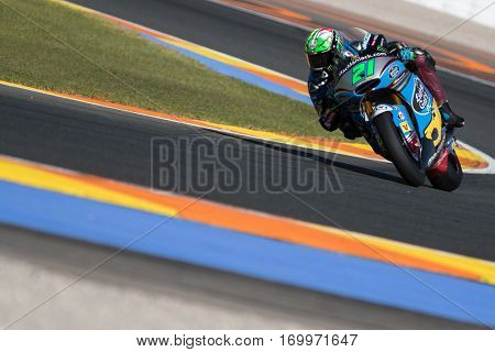 VALENCIA, SPAIN - NOV 11: Franco Morbidelli during Motogp Grand Prix of the Comunidad Valencia on November 11, 2016 in Valencia, Spain.