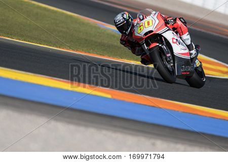 VALENCIA, SPAIN - NOV 11: Julian Simon during Motogp Grand Prix of the Comunidad Valencia on November 11, 2016 in Valencia, Spain.