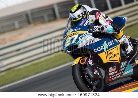 VALENCIA, SPAIN - NOV 11: Iker Lecuona during Motogp Grand Prix of the Comunidad Valencia on November 11, 2016 in Valencia, Spain.