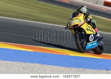 VALENCIA, SPAIN - NOV 11: Robin Mulhauser during Motogp Grand Prix of the Comunidad Valencia on November 11, 2016 in Valencia, Spain.