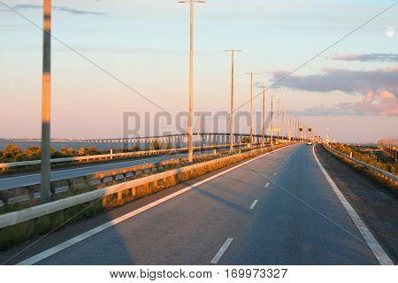 amazing the Oresund Bridge Malmo in Sweden