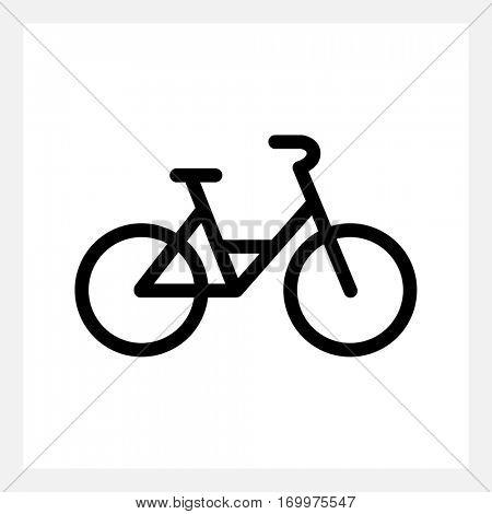 Black city bike icon isolated on white